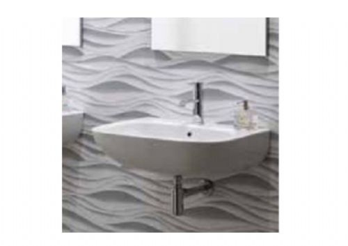 Eastbrook Albano Wall Mounted Basin - 1 Tap Hole - 650mm Wide